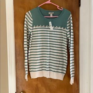 Loft outlet striped sweater